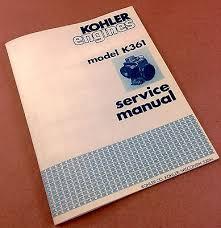 kohler magnum hp m m service manual bull picclick kohler engines model k361 service shop repair manual 18hp k361a rebuild