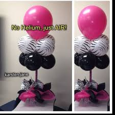 decorating with balloons without helium balloon centerpiece without helium