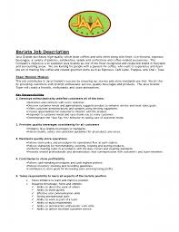 barista job description resume perfect resume  barista