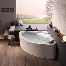 ... Bathtubs Idea, Whirlpool Bath Jacuzzi Bath With Shower Large Corner  Jacuzzi Tub For One Person ...