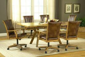 table and chairs with casters amazing inspiring dining chairs with wheels room regarding swivel in dining