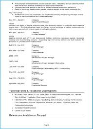 Project Manager Cv Template Word Uk Format 10 Industries All Career