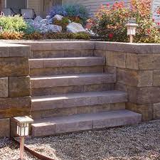 denver straight retaining wall block at