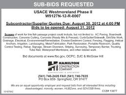 August Quotes 48 Wonderful Hamilton Construction Company Is Requesting SubContractor Bids For