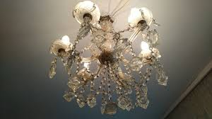 six light crystal chandelier so called maria theresia italy 1960s