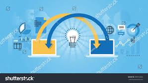 Flat Website Design Ideas Flat Line Design Website Banner Online Stock Vector Royalty