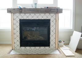 Tile Fireplace Makeover Fireplace Makeover Octagon Dot Tile Averie Lane Fireplace