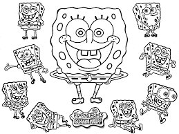 Easter Coloring Pages Spongebob Printable Educations For Kids