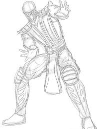 Small Picture Mortal Kombat Coloring Pages Generic Kids Pedia 13607