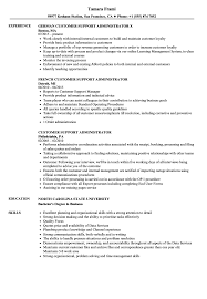 Administrator Resume Examples Customer Support Administrator Resume Samples Velvet Jobs