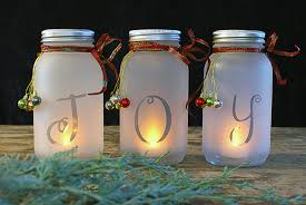 What To Put In Mason Jars For Decoration DIY Mason Jar Holiday Luminaria The Budget Decorator 52