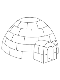 Small Picture Igloo coloring page Download Free Igloo coloring page for kids