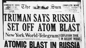 「1953, soviet first hydrogen bomb test」の画像検索結果