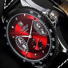winner watch usa new men s fashion automatic mechanical date black leather sport wrist watch