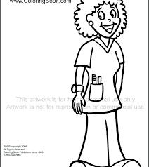 Nurse Coloring Page Coloring Pages Doctor Nurse Coloring Page Medium