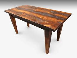 custom rustic farm table with tapered legs