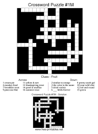 There are five puzzles in this category with more to be added in the future. Medium Printable Crosswords Free Printable Crossword Puzzles