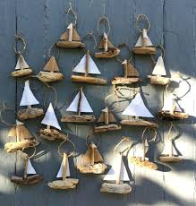 driftwood ideas hanging sailboat minis driftwood ornament rustic ornament driftwood  ideas images