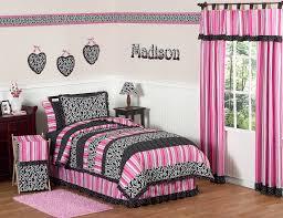 hot pink girls bedding elegant hot pink black white ruffled girls bedding twin comfor with bedroom