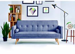 promo 3 seater sofa bed grey fabric a2