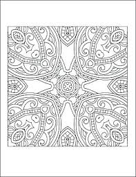 Free Geometric Coloring Pages For Adults Complex Geometric Coloring