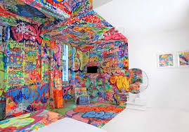 Interior Design : Painting Ideas Hotel Au Vieux Panier Room Marseille 1  Colorful Bedroom Decorating By Graffiti Artists Interior Design Colorful  Bedroom ...