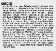 Myrtle Gordon obit - Newspapers.com