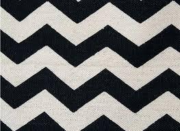 chevron rug in black white modern monochrome zigzag navy blue 8x10 full size