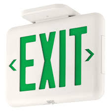 Exit Sign Lighting Requirements Dual Lite Thermoplastic Led Emergency Exit Sign Exit Sign