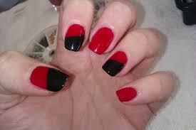 Nail Design Nail Art Design Black And Red