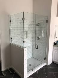 90 degree glass shower enclosure with