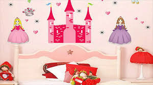 Princess Wallpaper For Bedroom Princess Bedroom Wall Stickers For Kids Youtube
