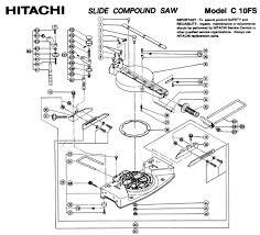 hitachi table saw parts. hitachi c10fs a group parts table saw m