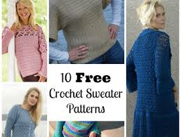 Free Crochet Sweater Patterns Beauteous 48 Free Crochet Sweater Patterns Craftfoxes