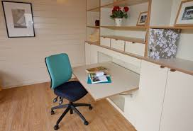 garden office interiors. Organised Storage And A Foldaway Desk In Garden Office Interiors C