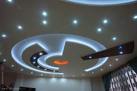 plasterboard suspended ceiling design with led indirect ceiling lights