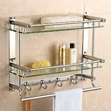 shelf towel bar stainless steel