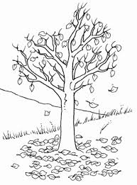 Small Picture Fall Tree Coloring Pages Syougitcom