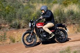triumph street scrambler full review with video superbike