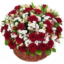 ruby red rose basket bouquet flower delivery ottawa