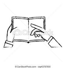 hand holding a book csp43787650