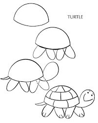 turtle drawing for kids. Perfect For How To Draw Franklin The Turtle Step 2 Reptile Inside Drawing For Kids
