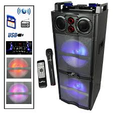 Befree Sound Triple 10 Subwoofer With Party Lights Pro Audio Pro Audio Dygistore Com