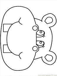 Small Picture Hippo3 Coloring Page Free Hippopotamus Coloring Pages