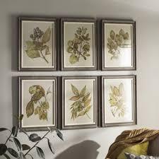 seedlings 6 piece framed graphic art set on wall art set of 6 with 6 piece wall art wayfair