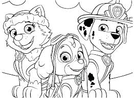 Coloring Pages Paw Patrol Coloring Sheets Chase Rubble Page Pages