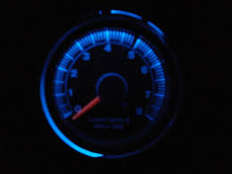sunpro tach installed and added blue led s to it pix the image