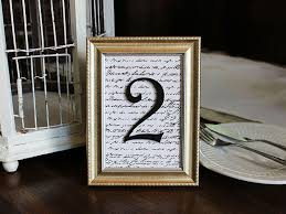 wedding table number photo frames how to make framed table numbers diy