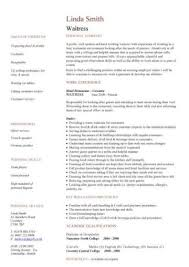 waitressing cv hospitality cv templates free downloadable hotel receptionist