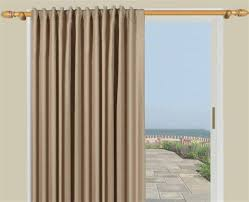 image of door curtain panel cream